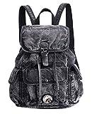 SAIERLONG Frauen und Mädchen Rucksack Schultasche Reisetasche Schwarz jean