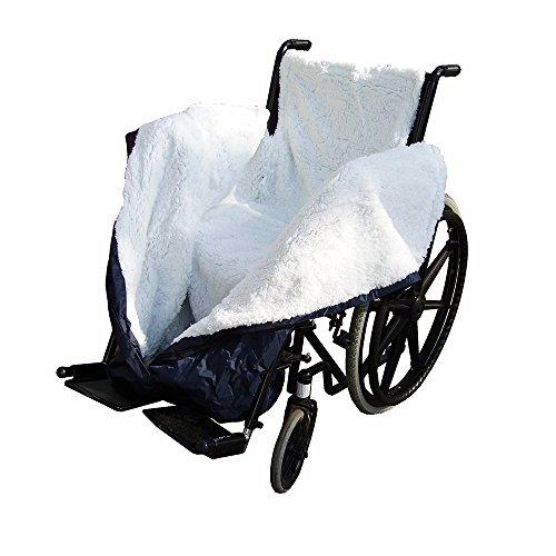 NRS Healthcare N36883 NRS Fleece-gefütterte, wasserdichte und komfortable Rollstuhldecke - Personal-reißverschluss