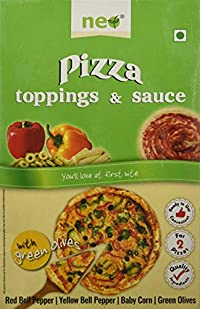 Neo Foods Pizza Topping and Sauce with Green Olives, 250 Grams - Pack of 24