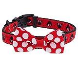 Disney Parks Minnie Mouse Polka Dot Schleife Hund Pet Halsband Medium