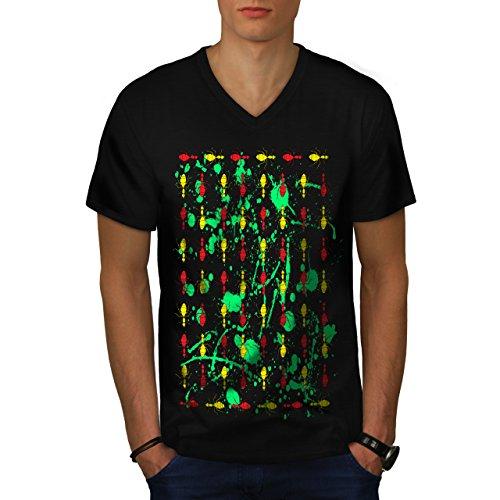 plusieurs-fourmi-impression-insecte-homme-nouveau-noir-l-t-shirt-wellcoda