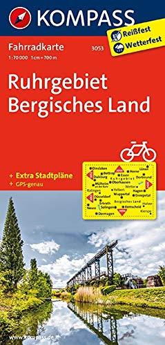 Carta cicloturistica n. 3053. Ruhrgebiet, Vergishes land 1:70.000. Adatto a GPS. Digital map. DVD-ROM: Fietskaart 1:70 000