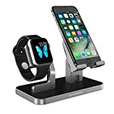 iPhone Dock, Apple Watch Stand, Handy Halterung Ständer, BENTOBEN iwatch iPhone Ladestation Apple Watch Docking Station für iPhone X 8 7 6 SE Apple Watch iPad Mini Smartwatch Samsung Galaxy S9 Plus Huawei P20 Lite usw. Space Grau/Silber