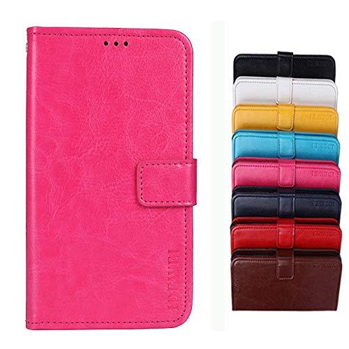 COVO® für TP-LINK Neffos C5A Hülle,Brieftasche Handyhülle,Flip Hülle Wallet Stylish mit Standfunktion und Magnetisch PUtasche Schutzhülle handyhüllen passt für TP-LINK Neffos C5A(Rose rot)