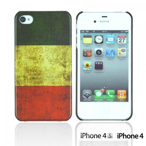 OnlineBestDigital - Vintage National Flag Hard Back Case / Housse pour Apple iPhone 4S / Apple iPhone 4 - Italie Italie
