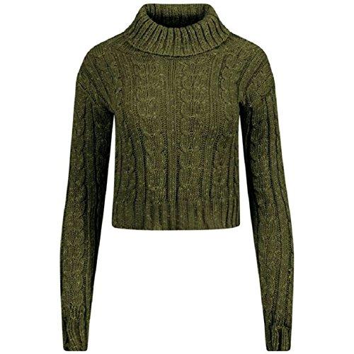 Comfiestyle - Sweat-shirt - Pull - Femme Kaki