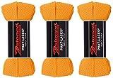 2Stoned 3 Paar Original PHAT Laces Orange 120cm lang und 3cm breit, Flache breite Schnürsenkel für Sneaker und Chucks