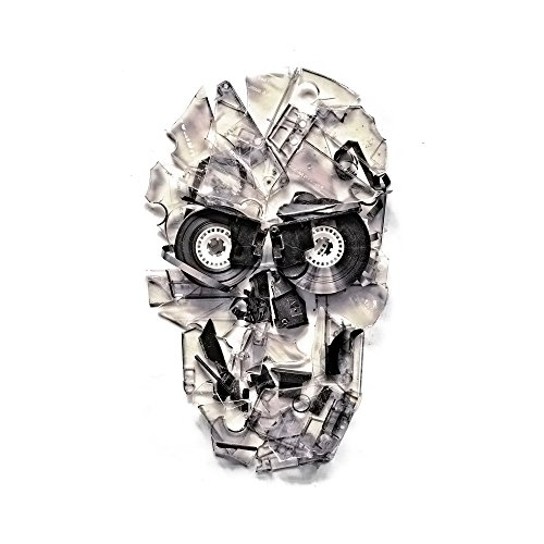 Apple iPhone 6 Housse Étui Silicone Coque Protection Crâne Tête de mort Crâne Sideflip Sac
