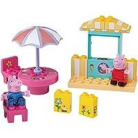 Peppa Pig - Heladería de Peppa con 5 cucuruchos, juego de construcción, multicolor (Simba 5110875)