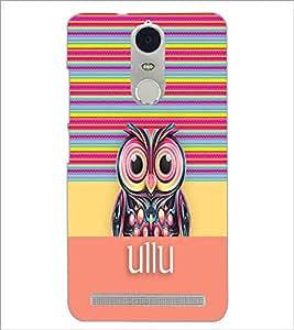 PrintDhaba Ullu D-3330 Back Case Cover for LENOVO K5 NOTE (Multi-Coloured)