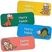 Namensaufkleber für Kinder (Dinosaurier-Motive, 40 Stück)