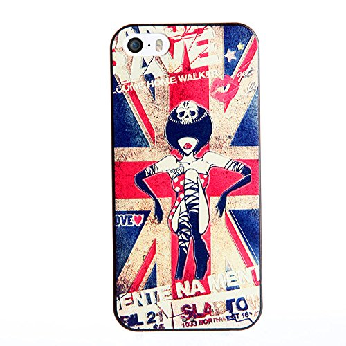 UKDANDANWEI Apple iPhone 7 Plus Hülle - TPU 3D Handyhülle Schutzhülle Silikon kratzfeste stoßdämpfende Case für Apple iPhone 7 Plus [Dummy Doll] ] ] British Flag