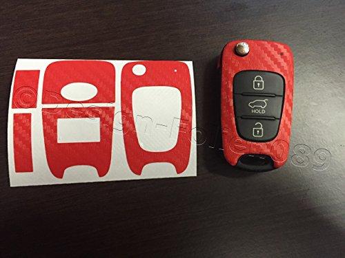 carbon-film-de-protection-decran-rouge-motif-carbone-schlusseldekor-kia-sorento-sportage-picanto-sw-