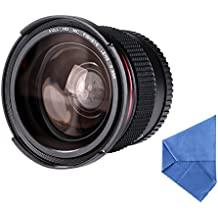 58MM Fisheye - [Ultra Claro] Beschoi Lente de 0.35X Ojo de Pez de Ángulo Ancho Objetivo Lente Marco para Cámara Reflex con Azul Recubiertos con Película + Paño de Limpieza de Microfibra + Funda con Cremallera para Canon Rebel T5i, T4i, T3, T3i, T2i, T1i, XTi, XT, XSi, XS, SL1, Canon EOS 1100D, 1000D, 700D, 650D, 600D, 550D, 500D, 450D, 400D, 300D, 100D DSLR Cámeras