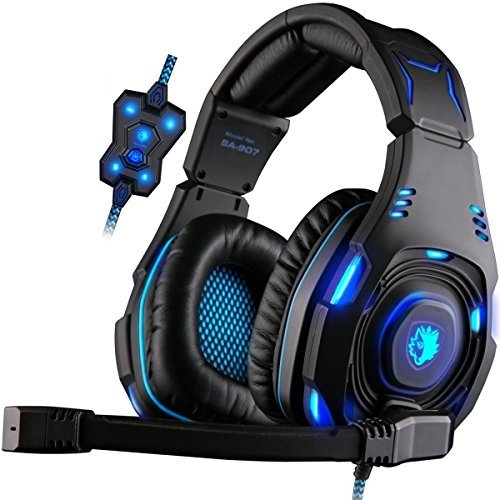 Gaming Headset für Neue Xbox One, PS4, PC, SA907 Superior-digital-headset