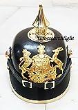 Deutschen Pickelhaube Helm Leder Preußische Helm ersten Weltkrieges, 2. Weltkrieg Württemberg Helm