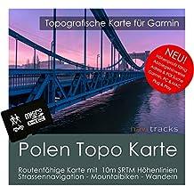Polonia Garmin tarjeta Topo 4GB MicroSD. Mapa Topográfico de GPS Tiempo Libre para Bicicleta Senderismo Excursiones Senderismo Geocaching & Outdoor. Dispositivos de Navegación, PC & Mac