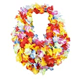 Enlarge toy image: 12 x HAWAIIAN LEIS HULA ALOHA HAWAII HEN STAG FLOWER GARLAND PARTY - teenage children and family entertainment
