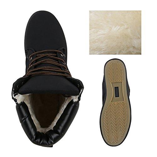 Outdoor Profil Schwarz Herren Worker Schuhe Boots Sohle Gefüttert 64O4qFx