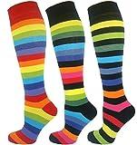Mysocks® arc en ciel peigné coton chaussettes