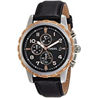 Fossil End of Season Chronograph Black Dial Men's Watch - FS4545