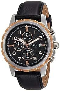 Fossil - FS4545 - Montre Homme - Quartz Chronographe - Chronomètre - Bracelet Cuir Noir