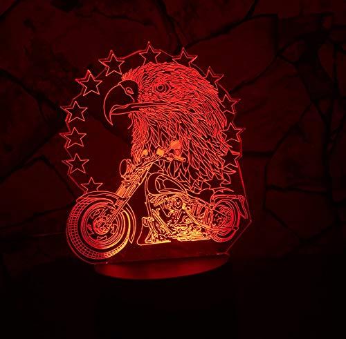 3D Led Usb 7 Farbwechsel Visuelle Nachtlicht Adler Reiten Motorrad Dekoration Househould Kind Kinder Urlaub & Geburtstage Geschenke Berührungsschalter