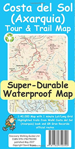 Costa del Sol (Axarquia) Tour and Trail Super-Durable Map por David Brawn