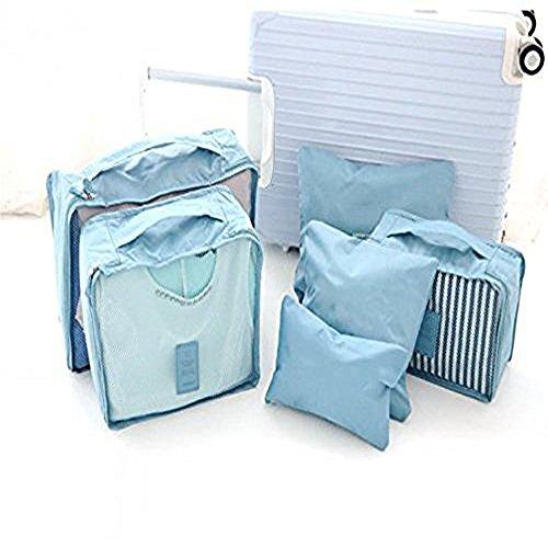 denshine Wasserdicht Kleidung Cube Verpackung Aufbewahrungsbeutel Watchet 6PCS Travel Gepäck Buggy Staubbeutel