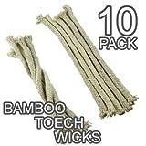 Ersatz-Dochte aus Baumwolle–für Bambusfackeln