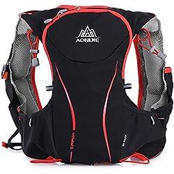 OutLife AONIJIE Mochila Hidratacion Trail Runningde Nylon Impermeable Compatible para Bolsa de Agua de Hidratación de 1,5 L para Maratón, Ciclismo, Carrera, Tamaño L/XL