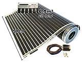 Calorique Infrarot Heizfolie Elektrische Fußbodenheizung 50 cm Set 220 W/m² 0,5 m² - effiziente und kostengünstige Heizung für Neubau oder Altbau-Sanierung