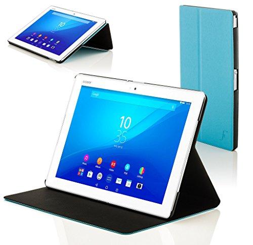 Forefront Cases Smart Hülle kompatibel für Sony Xperia Z4 10,1 Zoll Tablet-PC SGP771 Hülle Schutzhülle Tasche Case Cover Stand - R&um-Geräteschutz Smart Auto Schlaf Wach Funktion (HELL BLAU)