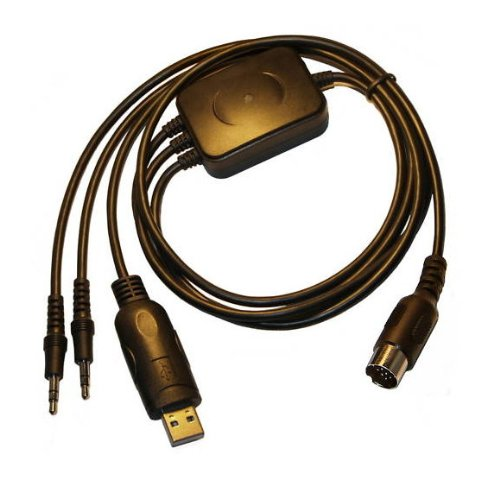 Mode Datenkabel für Kenwood Empfänger/Transceiver, ausgestattet mit 13-pin DIN Stecker