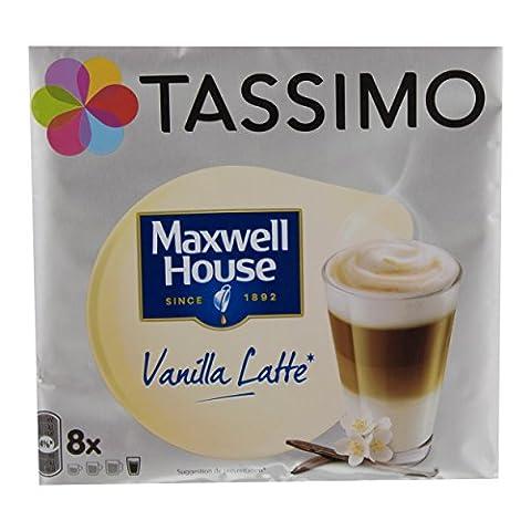 Tassimo Maxwell House Vanilla Latte, Kaffee, Kaffeekapsel, Milchkaffee, 40 Portionen