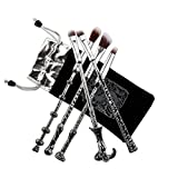 Pinsel Makeup, Chacca 5 pcs Makeup Pinsel Set Zauberstab Fancy Look mit feinen Borsten, Silber Schwarz