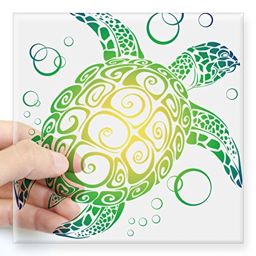 CafePress Meer Schildkröte Aufkleber quadratisch Aufkleber 3x 3, farblos, 5x5