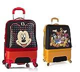 SCONTO SPECIALE - 470 € Sconto - PREMIUM DESIGNER Valigia Rigida set 2 pezzi - Heys Disney Clubhouse Bagaglio a Mano + Trolley con 4 Ruote Grande
