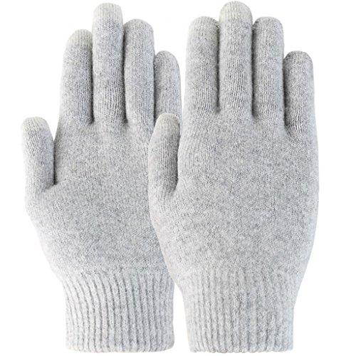 Wolle-mischung-stulpen (Novawo Unisex warm Mischung aus Kaschmirwolle und Scharfwolle elastische zaubere Touchsreen Handschuhe)