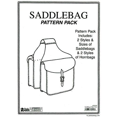TANDY Leder Factory Muster pack-saddlebag, andere, mehrfarbig (Bag Paper Pattern)