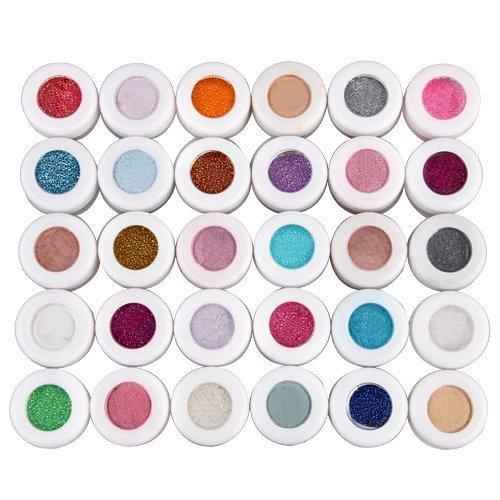 LIFECART multicolore 30 paillettes maquillage minéral de fard à paupières ombre à paupières poudre