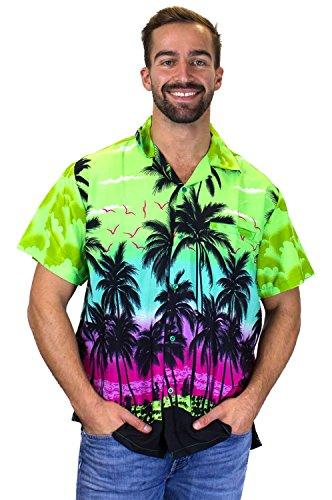 Funky Hawaiihemd Kurzarm Beach Grün