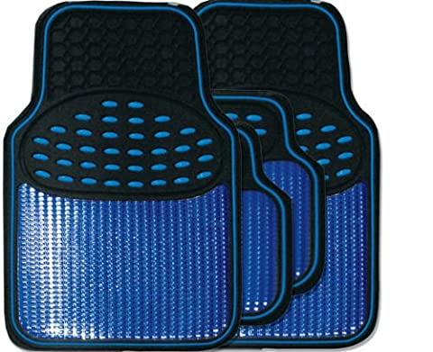Premium Black/Blue metallic rubber mats FOR LEXUS GS