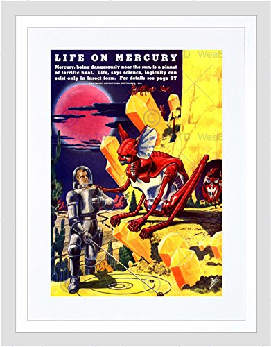 MAGAZINE VINTAGE FANTASTIC ADVENTURES LIFE ON MERCURY 1940 ART PRINT B12X10755 (1940-magazin)