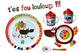 EBULOBO - Coffret Repas Complet Mixte - Cadeau Naissance - Assiette à Rebord,...