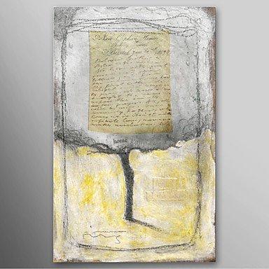 BL Dipinto a mano pittura a olio astratta Home Lettera, con telaio allungato pronta per essere