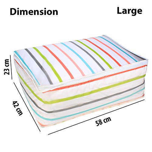 DIWALI 2017 FRESH ARRIVAL - HOKIPO® Foldable Closet Cloth Organizer Bag for Quilt, Blankets, 58 x 42 x 23 cm