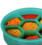 #5: Kuber Industries™ Air Tight Lock Spice Container,Spice Box,Masala Container -7 Sections.Assorted Colors (Masala03)