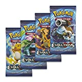 "Pokemon XY12 ""Evolutions"" 4x Booster Packs = 40 Additional Cards for Pokemon Trading"
