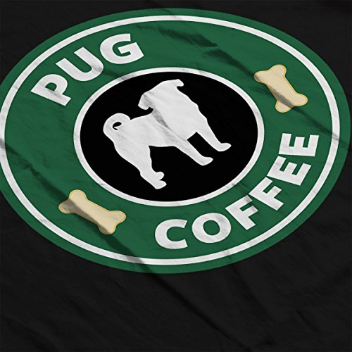 Pug Coffee Starbucks Women's Vest Black